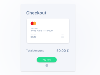 Daily UI Challenge 002 - Checkout Card