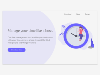 Daily UI Challenge 003 - Landing Page