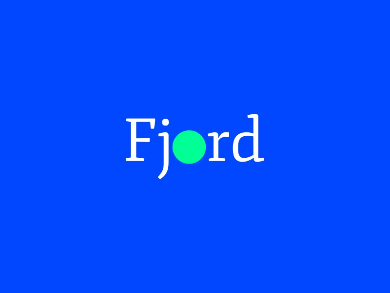 Fjord Brand Concept visual identity design typography minimalism branding clean colorful minimal logo design logo