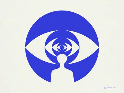 Inner vision curiouskurian conceptual freelancer editorial art artprint editorial minimal eye vision innerself illustration