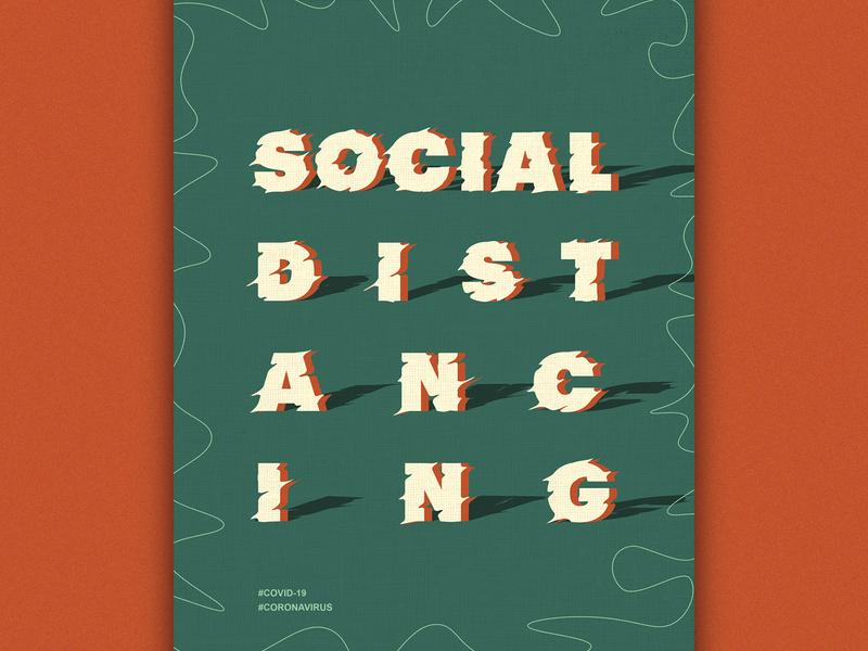 Social Distancing! curiouskurian graphicdesign covid covid19 corona social distancing poster art
