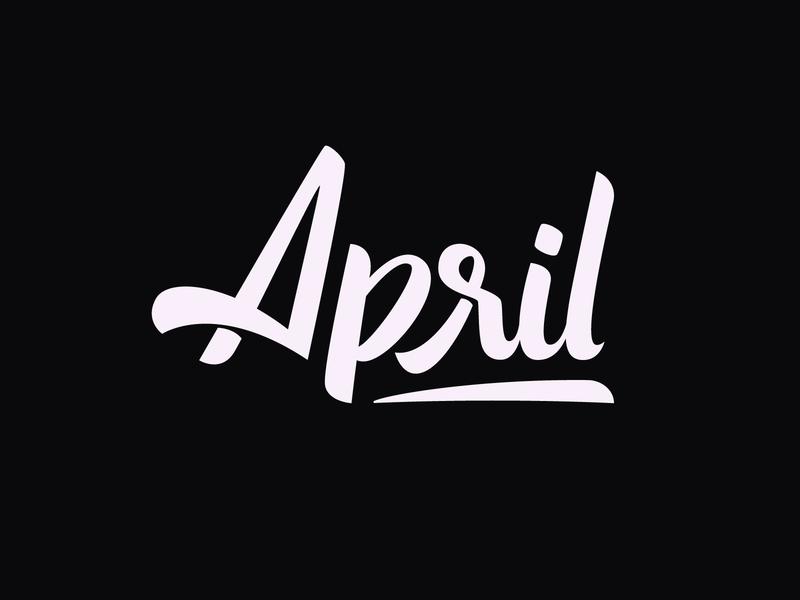 April Handlettering handlettering april logo custom type handmadetype customtype lettermark wordmark lettering