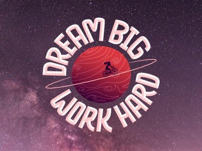 Dream Big Work Hard  |  Lettering Art typography cover curiouskurian adobe illustrator type sketch photoshop minimal art vector illustrator handlettering lettering illustration