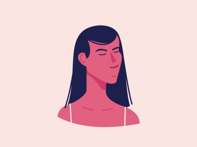 Lady Character Exploration girl ux ui graphic curiouskurian simple illustrator character design minimal flat vector design animation characterdesign character illustration