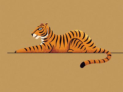 Tiger Illustration artist curiouskurian bigcat tiger digital art illustrator illustration