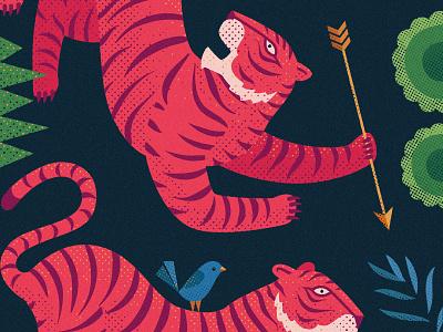 Tiger Love Illustration | Details illustrator wildlife tiger art curiouskurian tiger illustration bigcat tiger illustration