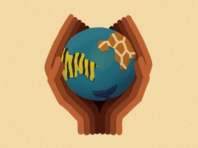 Unite curiouskurian ourplanetweek concept art editorial editorial illustration digitalart earth planet earth nature illustration