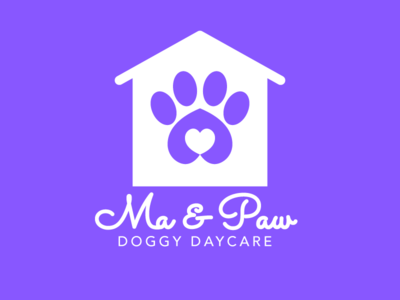 Ma & Paw Doggy Daycare Logo