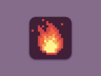 Pixel Art Fire App Icon