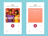 Daily UI Challenge - Day 9 - Music Player
