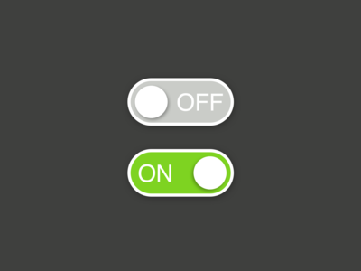 Daily UI Challenge - Day 15 - On And Off Switch