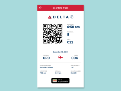 Daily UI Challenge - Day 24 - Boarding Pass