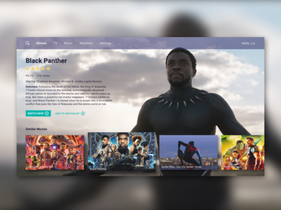 Daily UI Challenge - Day 25 - TV App