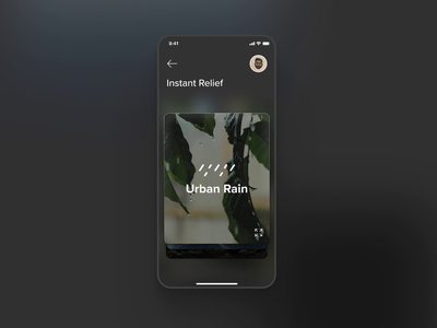 Relax & Meditation Mobile App Concept #2 - Animation glassmorphism dark ae figma meditation nature uiux uxui relax chill usage interface interaction animation user experience ux ui user interface