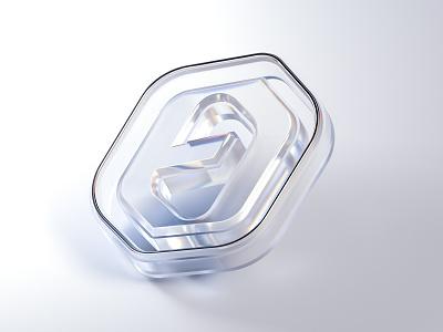 My Logo - C4D x Octane Explorations #1 octane model render object clean whitespace light transparent specular glass design art 3d logo cinema4d c4d