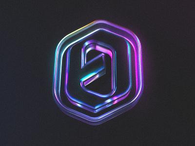 My Logo - C4D x Octane Explorations #2 octane grain mood render model futuristic reflects transparent design logo c4d cinema4d 3d colorful blue purple neon colors lights dark object
