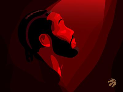 Mysterious Kawhi Leonard toronto basketball nba finals nba raptors kawhi leonard leonard kawhi shapes red dark design affinity designer affinitydesigner vector art illustration