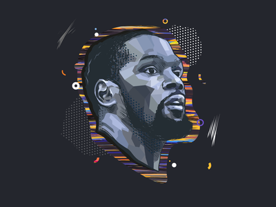 Kevin W. Durant - Sport Illustration nba kevin durant basketball pop illustrator draw illustrator shapes vector draw design art illustration