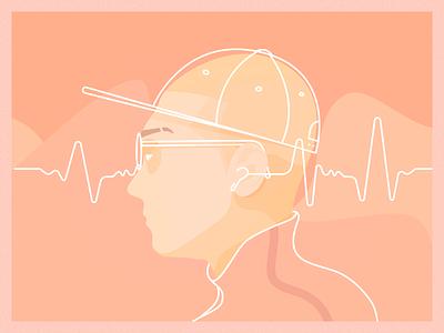 Musiclistener creamy light nocontrast urban shapes vector music design illustration art affinitydesigner affinity