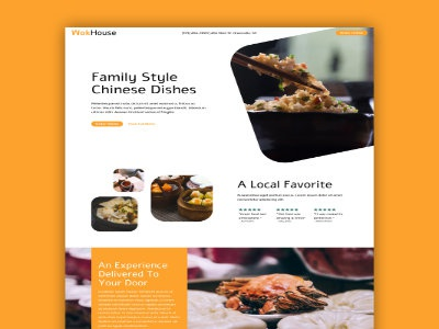 Single Page Site for Asian Restaurant