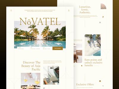 Novatel - Luxury Hotel Website / Landing page design header home hotel landingpage web motion graphics ui