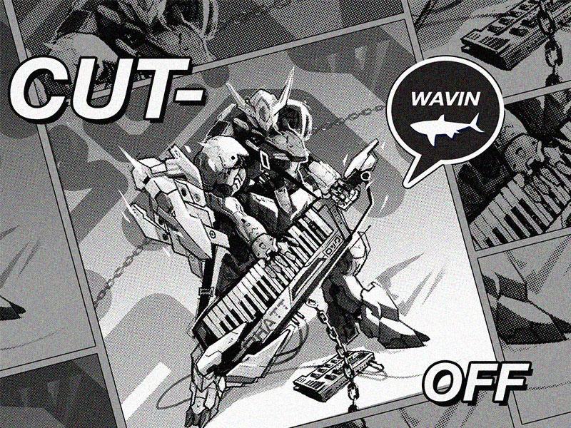 Cutoff halftone monochrome robots manga comics digitaldrawing digitalart charactersdesign