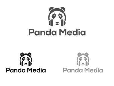 Panda Media logo abstractlogo