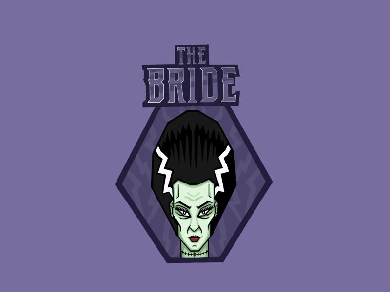 The Bride of Frankenstein 1031 procreate illustration