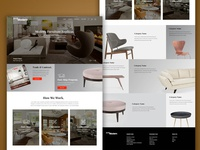 Modern Furniture Homepage Design