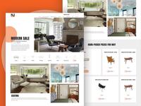 NJ Modern - Homepage Design