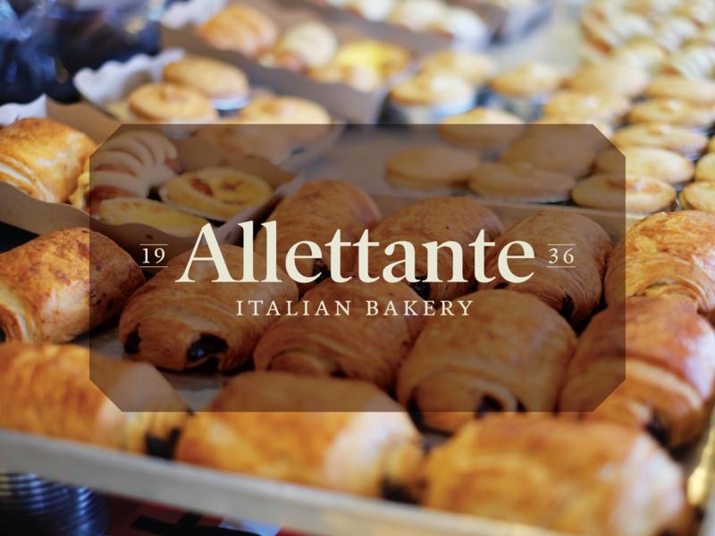 WIP Logo - Allettante minimal work in progress identity branding italian bakery logotype typography logo