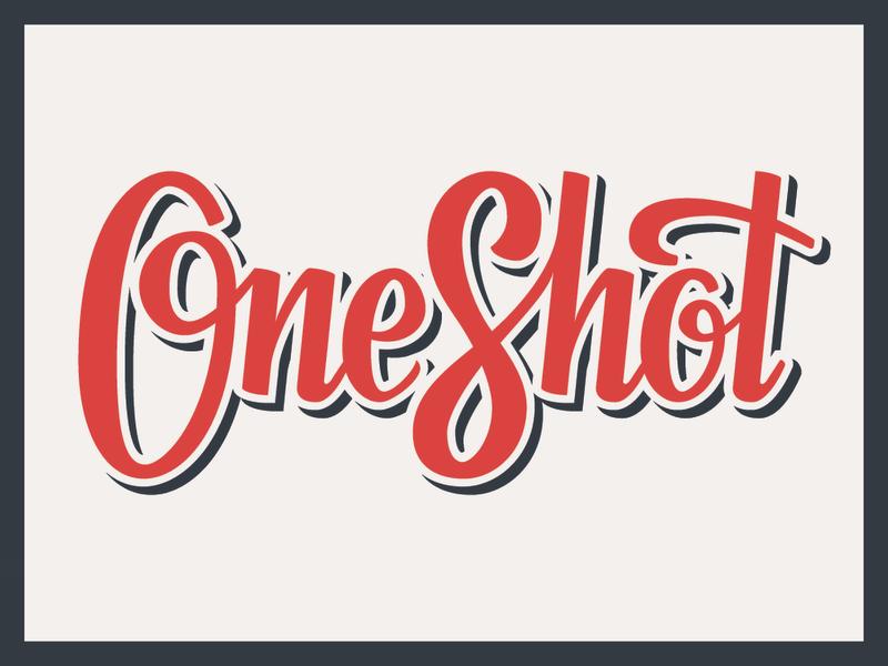 OneShot Logotype logo briefbox typography hand lettering lettering identity branding logotype espresso coffee