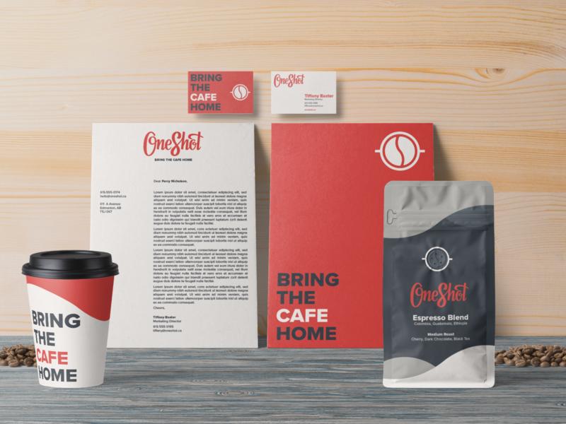 OneShot Stationery & Identity System identity logotype minimal briefbox coffee hand lettering branding lettering logo typography