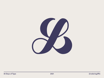 36 Days of Type - L hand lettering lettering type vector minimal design typography 36 days of type 36dot 36daysoftype08 36daysoftype