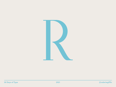 36 Days of Type - R hand lettering lettering vector design graphic type minimal graphic design type design typography 36 days of type 36dot 36daysoftype08 36daysoftype