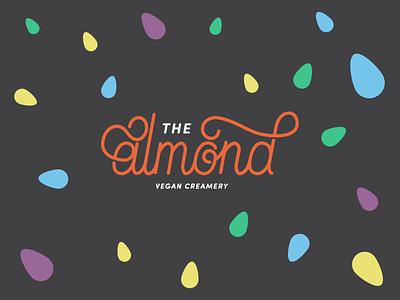 The Almond (2/3) process playful fun casual logo lettering typography froyo frozen yogurt