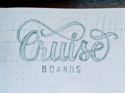 Cruise Boards (2/3) logo calligraphy process vector design hand lettering minimal lettering typography