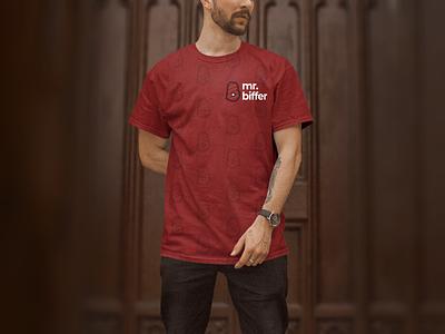 Mr. Biffer (3/3) graphic design guide social media apparel merch merchandise shirt clothing playful casual fun identity visual identity brand identity branding logo vector design minimal typography