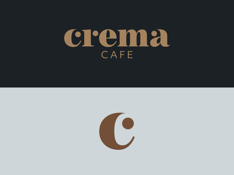 Crema Cafe Logo coffee crema cafe logo design logomark lockup logotype logo