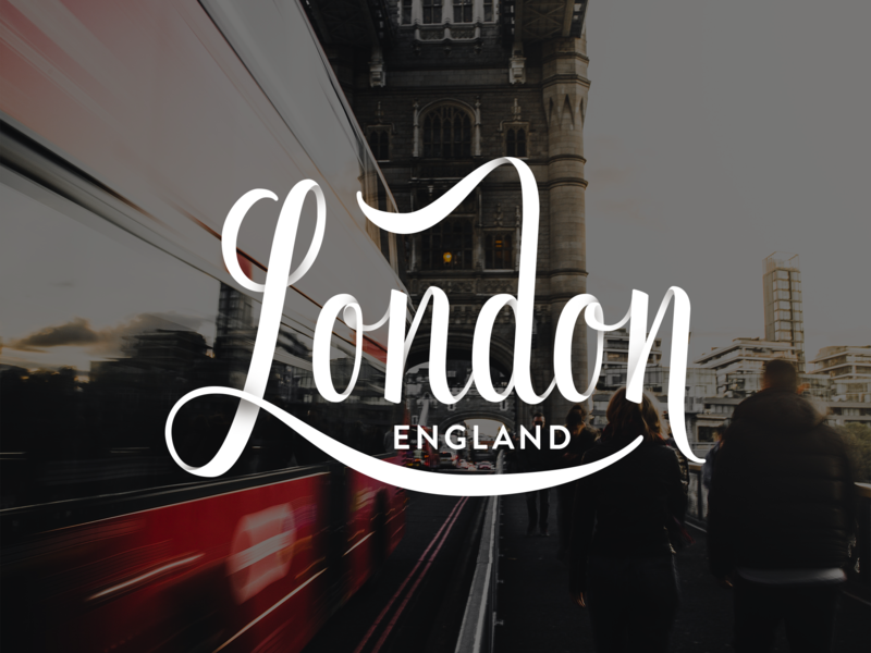 London Lettering script vector hand lettering typography lettering briefbox