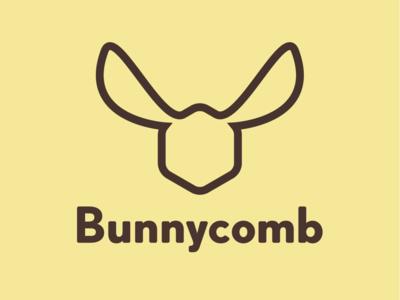 Bunnycomb logo design minimal bunny bunnycomb icon vector identity branding design logo