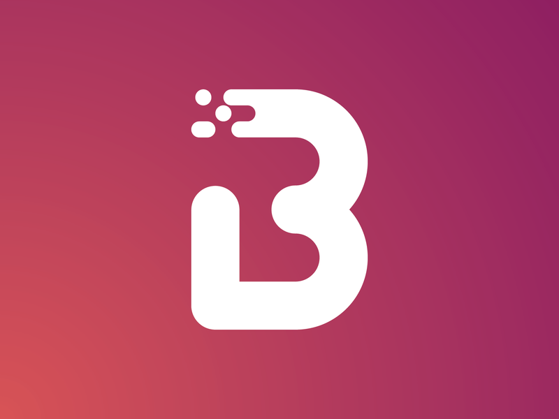 B Monogram logo design design minimal monogram letter mark vector icon logo lettering typography monogram