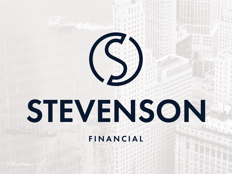 Stevenson Financial Logo logo design design typography corporate financial minimal identity branding icon logo