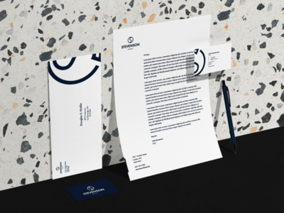 Stevenson Financial - Corporate Identity corporate identity corporate stationery branding and identity financial minimal logo identity visual identity branding