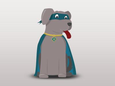 Super Dog Cartoon Character character branding illustration dog cartoon