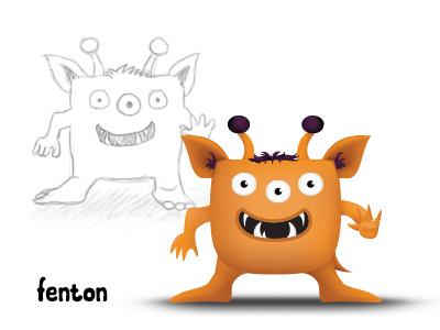 Alien Character alien character branding cartoon illustration mesh monster