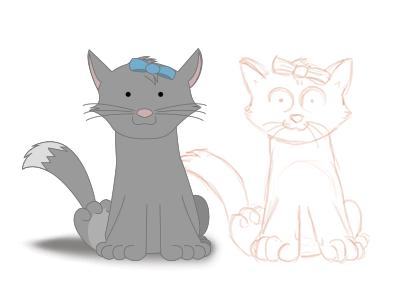 Cartoon Cat cartoon cat sketch illustration character