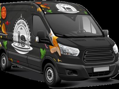 Food van wrap design