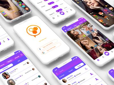 Live Streaming App UI Design