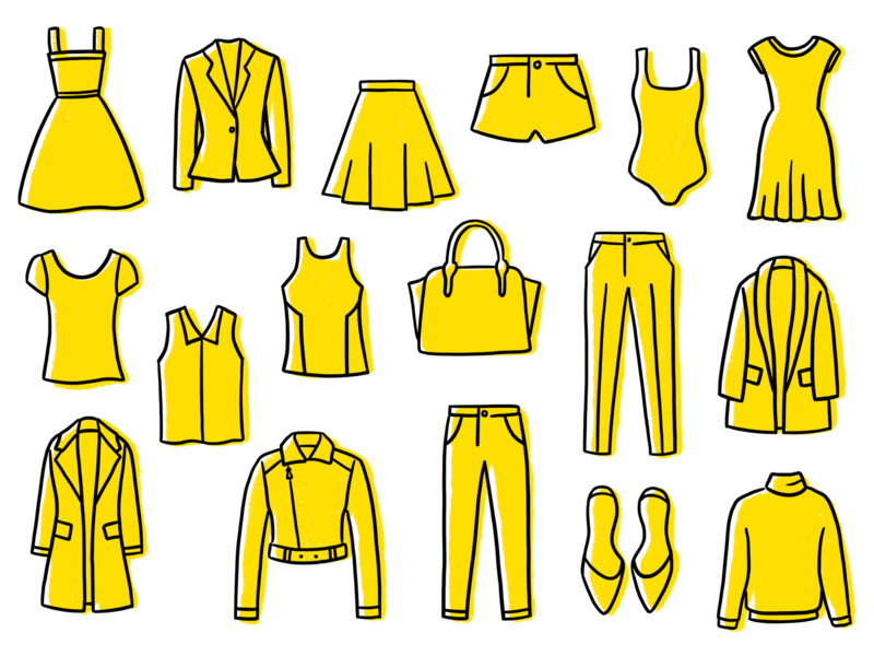 Goody Box Subscription Box Icons illustration icons illustrations clothing fashion goody box thredup